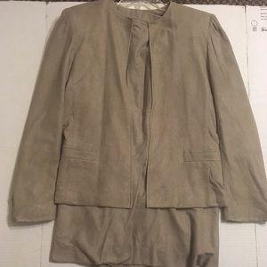 Jackets & Blazers - Brown Blazer and Skirt Set